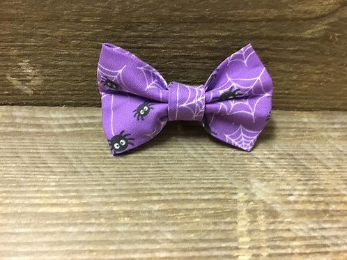 Purple spider bow tie