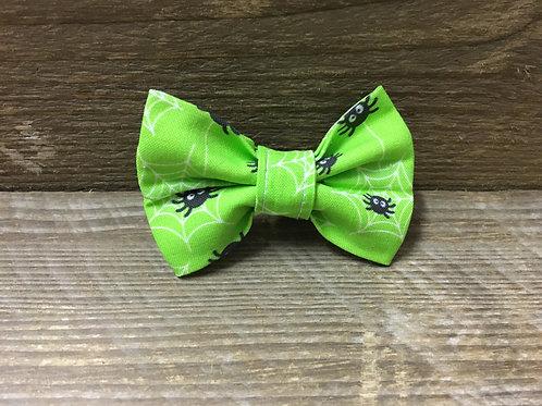 Green spider bow tie