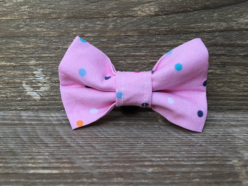 Pink Dotty Bow Tie