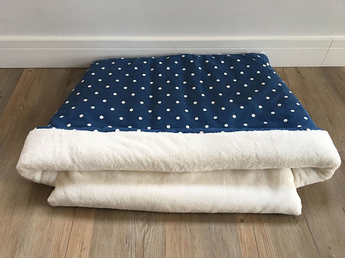 Navy Spot Snuggle Sack