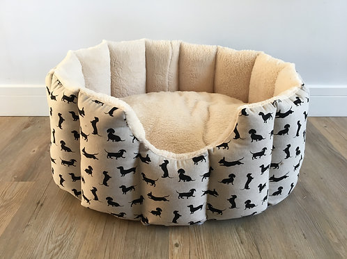 Black Dachshund Cave Bed