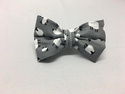 Bo Peep Grey Bow Tie