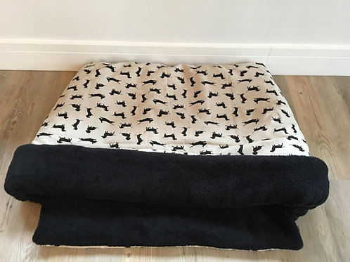 Black Dachshund Snuggle Sack