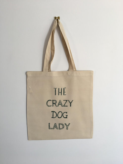 The crazy dog lady tote bag