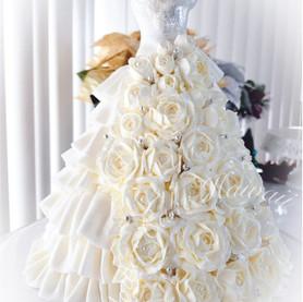 Wedding Dress with Rose Detail