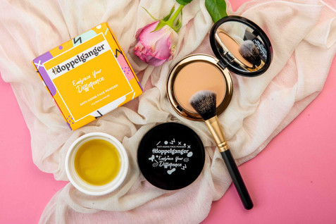 Cosmetic Product Photography Flatlay