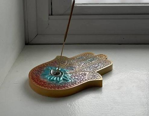 Hamsa Incense Holder