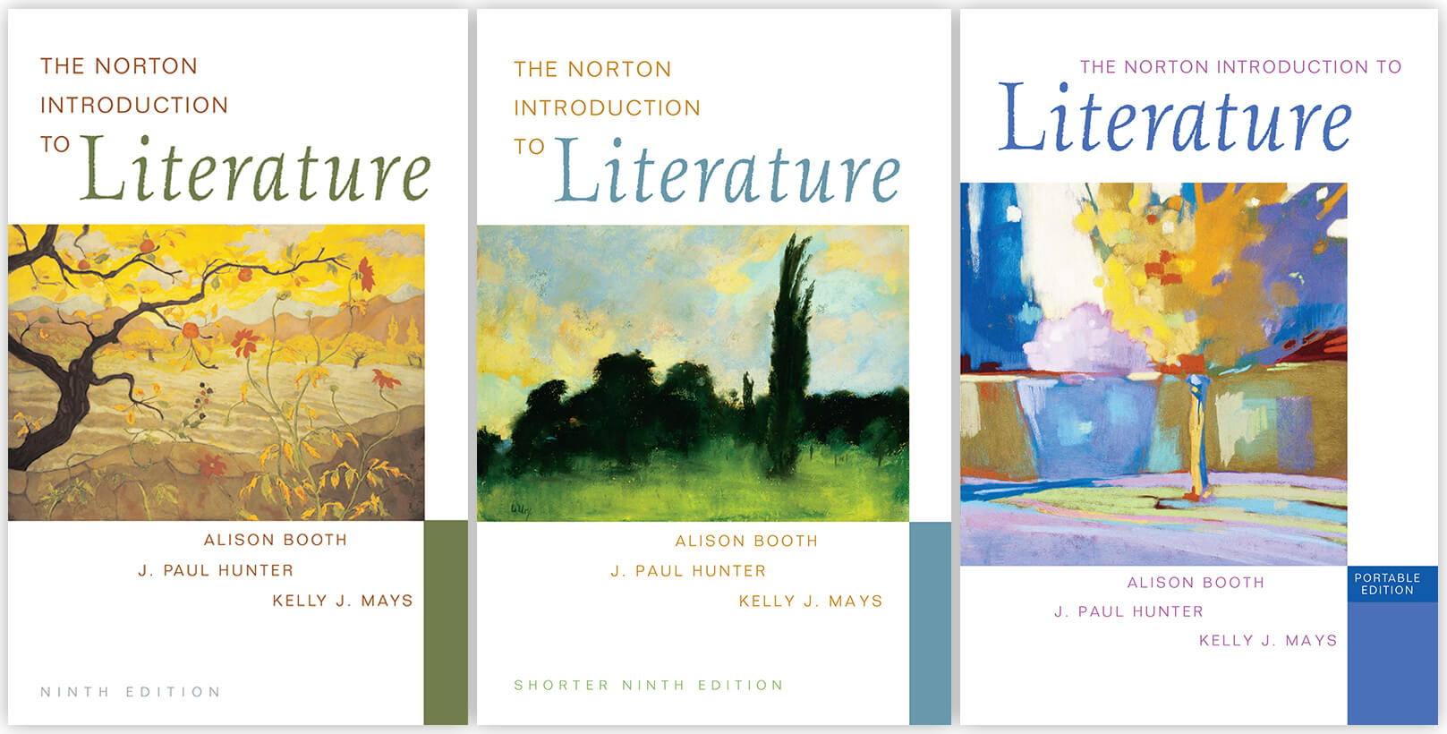 Norton Intro to Literature trio