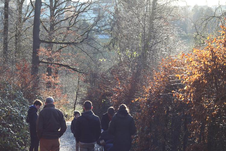 Spaziergang mit der Familie möglich