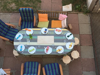 Gemeinsame Mahlzeiten inmitten der Familie