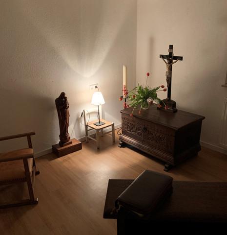 Gebetsraum am Abend