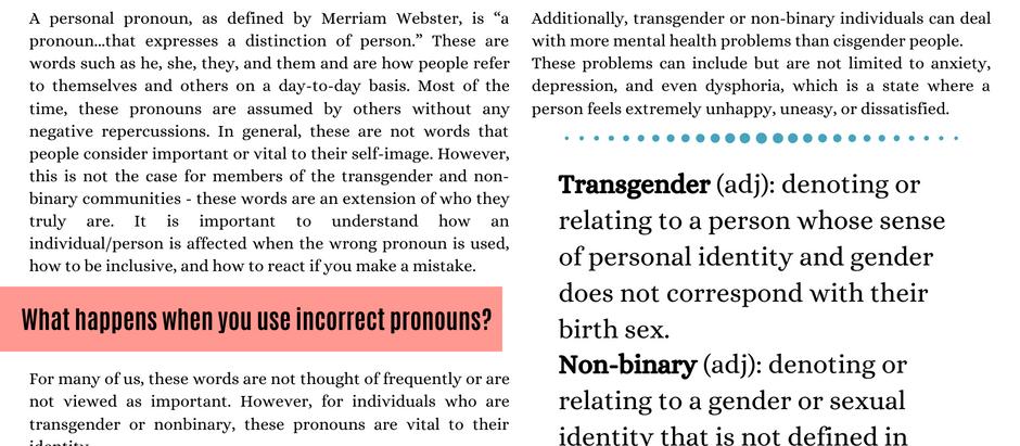 Respecting Pronouns