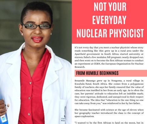 Senamile Masango - Not Your Everyday Nuclear Physicist