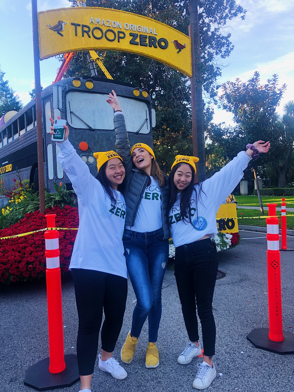 A few of our members who walked in the Pasadena Rose Bowl Parade this year with Amazon Studios! Such a fun day.