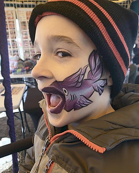 Fish Mouth Face Paint