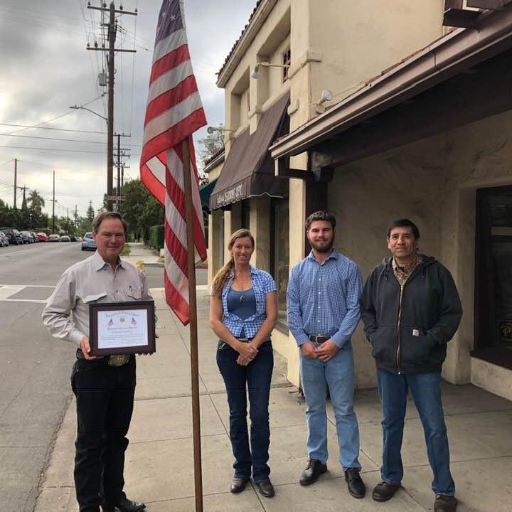 VFW POST 1649 Santa Barbara Awards the Patriotic Citizen Award to Josiah Jenkins and Jedlicka's Saddlery  Oct 13,... (1)
