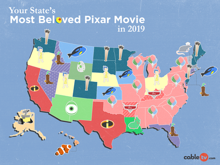 This map shows you the most popular Pixar movie in each state