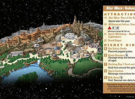 Disneyland releases first glimpse of Galaxy's Edge guide map