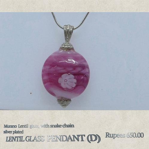 Lentil Glass Pendant - D