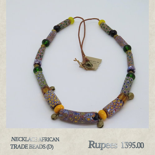 Necklace - African Trade Beads - D