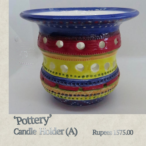 Pottery - Candleholder - A