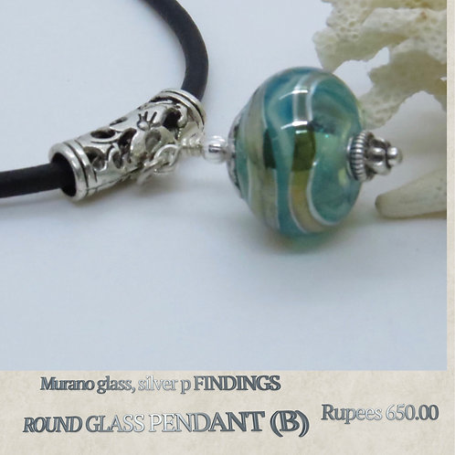 Round Glass Pendant - B