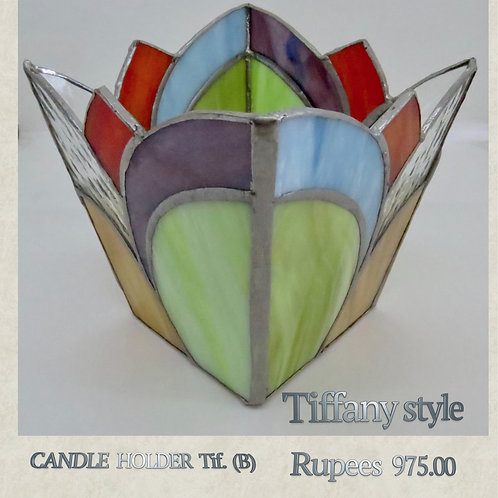 Tiffany Glass - Candleholder - B