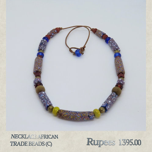 Necklace - African Trade Beads - C