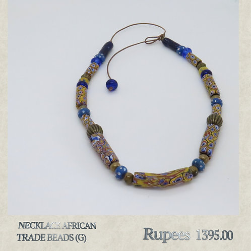 Necklace - African Trade Beads - G