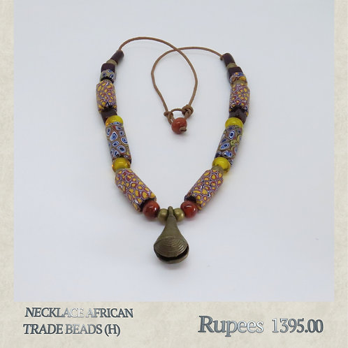Necklace - African Trade Beads - H
