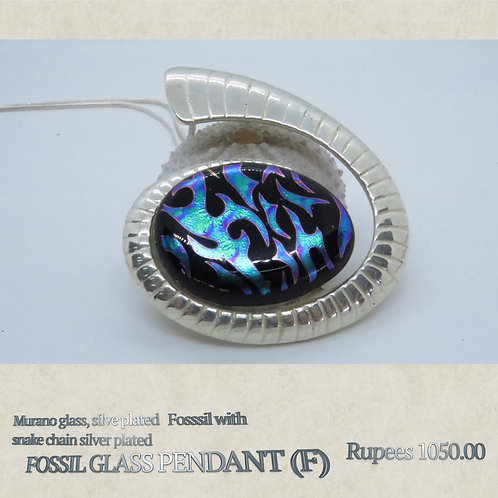 Fossil Glass Pendant - F