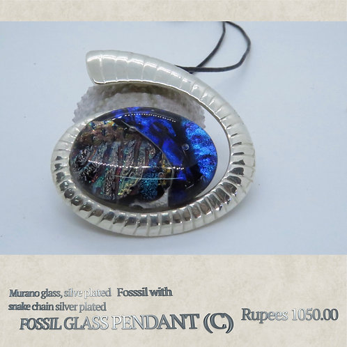 Fossil Glass Pendant - C