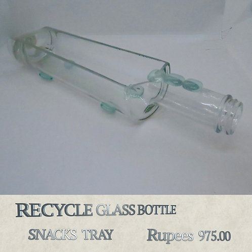 Recycle Glass Bottle - Snack Tray
