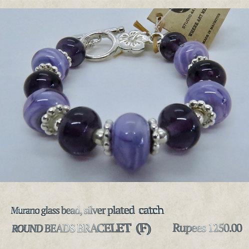 Round Bead Bracelet - F
