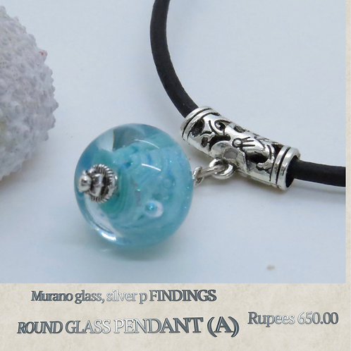 Round Glass Pendant - A
