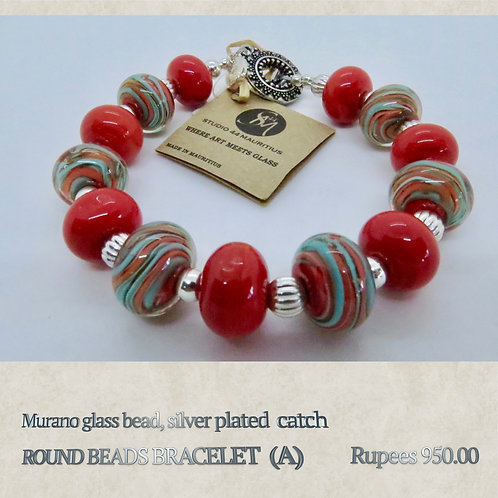 Round Bead Bracelet - A