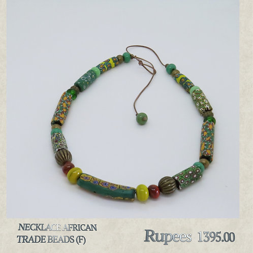 Necklace - African Trade Beads - F