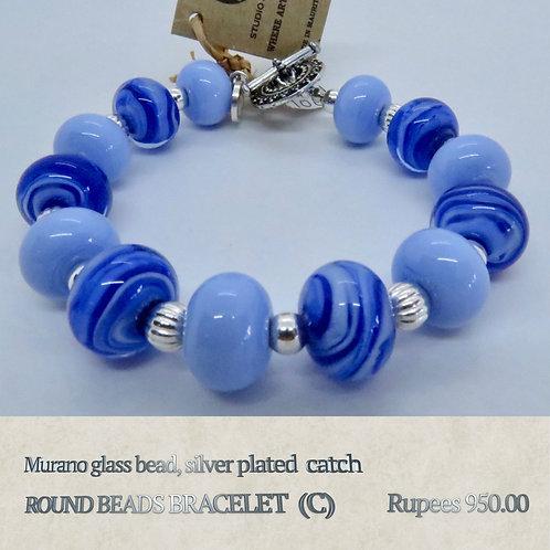 Round Bead Bracelet - C