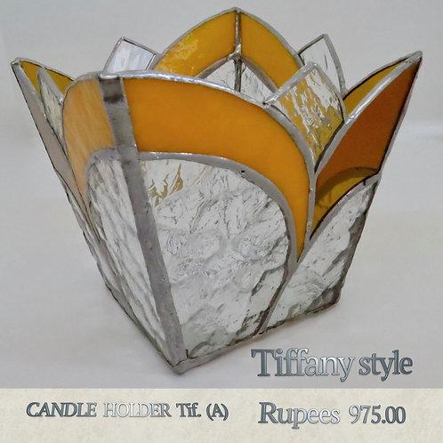 Tiffany Glass - Candleholder - A
