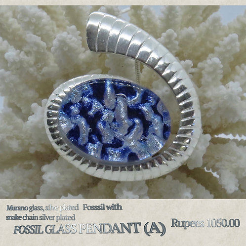 Fossil Glass Pendant - A
