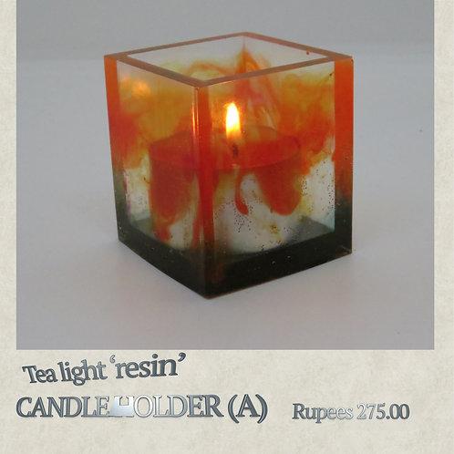 Resin - Candleholder - A