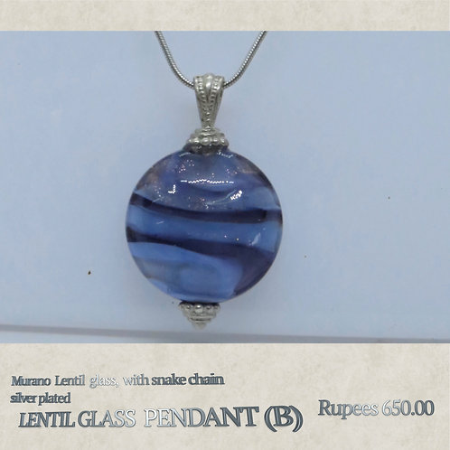 Lentil Glass Pendant - B