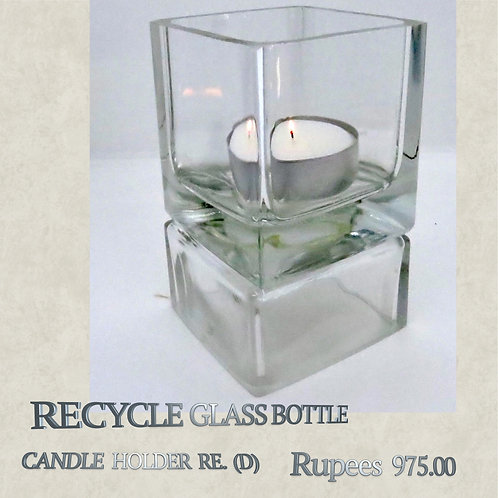 Recycle Glass Bottle - Candleholder - D