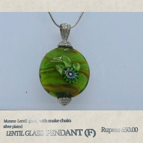 Lentil Glass Pendant - F