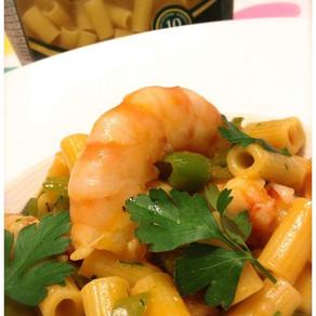 Easy prawn sauce with ditalini