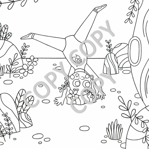 Gymnast Colouring Page