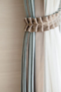 Curtain rope decoration in living room.j