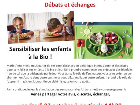 CONFERENCE : Sensibilisez votre enfant à l'alimentation Bio