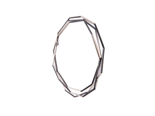 Nova Lineas Necklace Oxidized