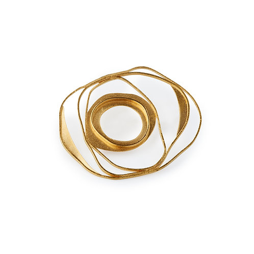 Ellos Brooche Gold Plated  Silver